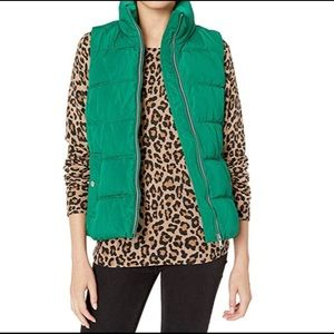 Old Navy Women's Green Puffer Vest Size M